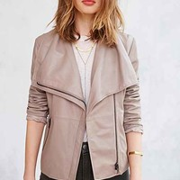 BB Dakota Keaton Leather Jacket- Grey