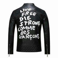 COMME des GARCONS X Lewis Leathers CDG Classic Graffiti Men's Leather