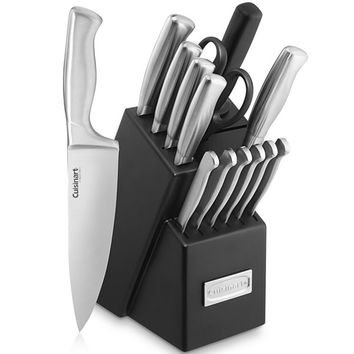 Cuisinart® 15pc Stainless Steel Knife Block
