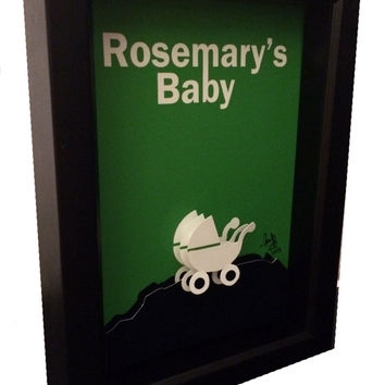 Rosemary's Baby Movie Poster 3D Pop Art Horror Artwork