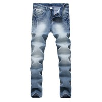 Ripped Holes Men's Fashion Stretch Slim Cotton Men Denim Jeans [264172765213]