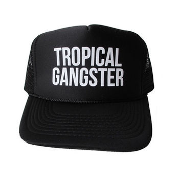 Samudra - Tropical Gangster Trucker Hat | Black