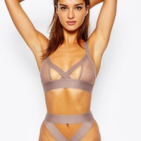 ASOS Extreme Risky Business Fishnet Triangle Bra