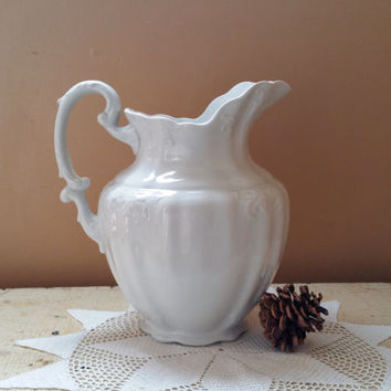 Johnson Brothers Antique Ironstone Ware Pitcher Large Water Pitcher