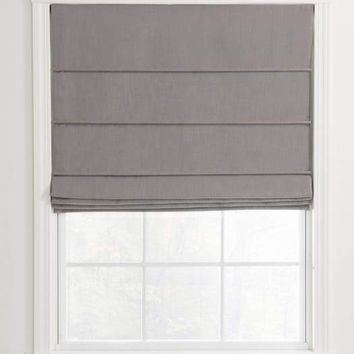 Ribbed Pleat Custom Roman Shades For Your Home / Office