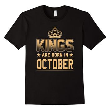 Men's Kings Are Born In October Shirt
