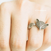 Egyptian fox ring,animal ring,adjustable rings,cute rings,couple rings,mens rings,stretch ring,cool ring,unique ring,bridesmaid gift,SKD500