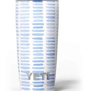Blue Watercolor Brush Strokes Yeti Rambler Skin Kit