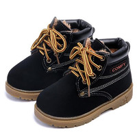 New Arrivals Fashion Children Warm Ankle boots Boys Girls Baby shoes Autumn Winter Plus Plush Snow Boots Kids Flats Sneakers 04