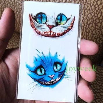 Waterproof Temporary Tattoo sticker Ink painting watercolor colorful cat tatto stickers flash tatoo fake tattoos for men women
