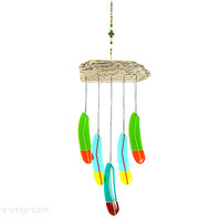 Fantasy Feather Wind Chime,Tropical Feather Windchime