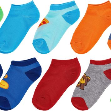 Trimfit Boys 10 Pack Lowcut Socks, Stripe/Solid