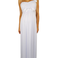 White Maternity Wedding Dress - Summer