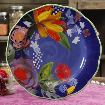 The Pioneer Woman Celia Blue 10.7-Inch Dinner Plate - Walmart.com