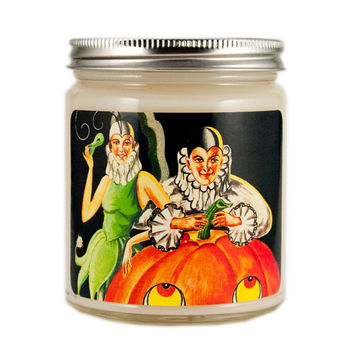 Art Deco Halloween Candle, Custom Scented Candle, Vintage Candle, Vintage Halloween Candle, Container Candle, Witch Candle, Halloween Candle