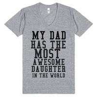 Awesome Daughter-Unisex Athletic Grey T-Shirt