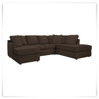 Express3 Dk Brown Microfiber Small Right Bumper Sectional