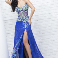 Tony Bowls Long Print Prom Dress