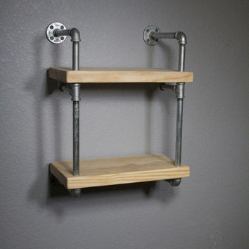 Pipe Shelving, Industrial furniture, wall mounted shelving, Industrial shelf, Shelving unit, Urban media shelving, Mini RAW Urban Shelf