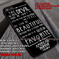 Horror Quote | American Horror | Evan Peters iPhone 6s 6 6s+ 6plus Cases Samsung Galaxy s5 s6 Edge+ NOTE 5 4 3 #movie #AmericanHororStory ii