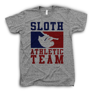 Sloth Athletic Team | Lazy Sloth Quote Shirt, Funny Girl TShirts