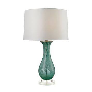 Swirl Glass Table Lamp in Aqua Aqua Swirl