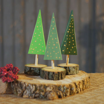 Wooden Tree - Rustic Christmas Tree Decor