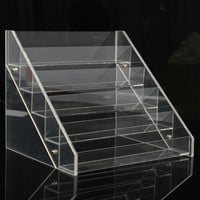 5 Tiers 30 Bottles Acrylic Nail Polish Display Stand Makeup Storage Organizer Rack Holder