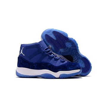 Air Jordan 11 Retro Aj11 Velvet Heiress Blue Sneaker Shoes Us7 13