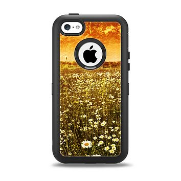 The Vintage Glowing Orange Field Apple iPhone 5c Otterbox Defender Case Skin Set