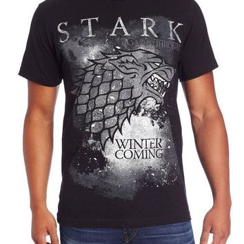 "Game Of Thrones STARK SEAL DIREWOLF ""WINTER IS COMING"" T-Shirt NWT Licensed"