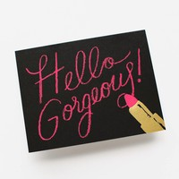 Hello Gorgeous Greeting Card by RIFLE PAPER Co. | Made in USA