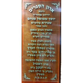 Personalized Wall Prayer Tefillah Plaque Wood & Lucite