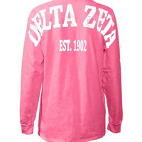 Delta Zeta Stadium Shirt Purple Large