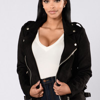 Point Of No Return Moto Jacket - Black