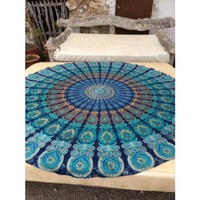 Decorative Indian Mandala Round Tapestry Wall Hanging Bedspread