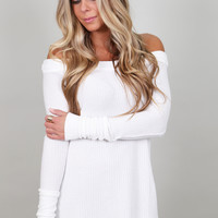Off The Shoulder Spring Thermal {Ivory}