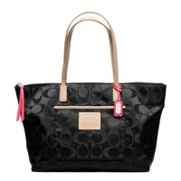 Coach :: Legacy Weekend East/west Tote In Signature Nylon