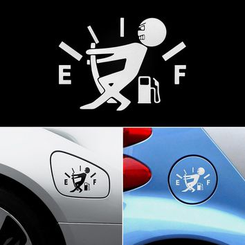 High Gas Consumption Decal Fuel Gage Empty Stickers Funny Vinyl JDM Car Stickers Car Styling Black Sliver 12CM*9CM Car Sticker