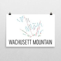 Wachusett Ski Trail Map Poster