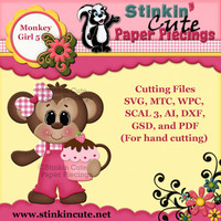 Monkey Girl 5 Cutting File Set