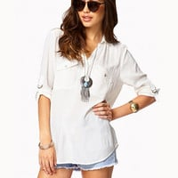 Collared Pocket Blouse