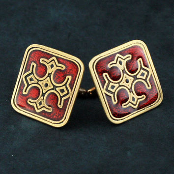 Brass Cufflinks Based on the Christchurch Cathedral Crypt.