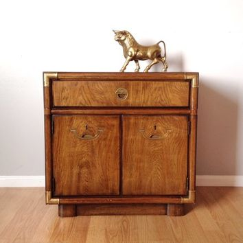 vintage Drexel Accolade campaign style nightstand.
