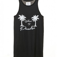 Welcome to Paradise Classic Tank | Women's Clothing | Zoe Karssen - Hunters and Gatherers