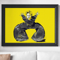 David Bowie Poster Art Painting Print Canvas Print Music Poster Canvas Poster Celebrity Poster Design Art Painting Wall Art Home Gift Bowie