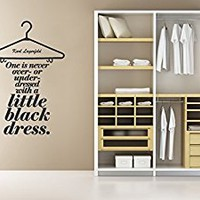 Wall Decal Vinyl Sticker Decals Art Decor Design Dress Quote Little Black Dress Lettering Girls Women Shopping Gift Bedroom Fashion (r820)