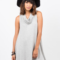 Cowl Neck Tunic Dress