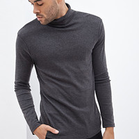 Classic Knit Turtleneck Charcoal Heather