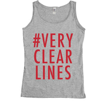 Very Clear Lines -- Women's Tanktop